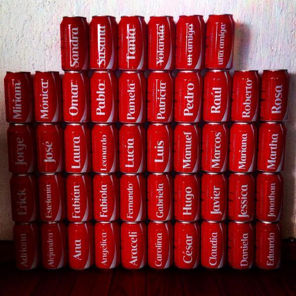 Lista completa de los 488 nombres en las latas de Coca-Cola 2014